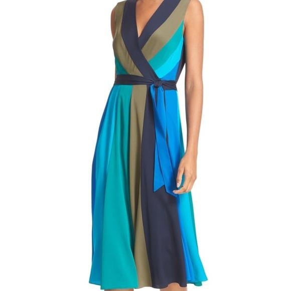 e895b3d35c79b Diane Von Furstenberg Dresses & Skirts - DVF Penelope Colorblock Silk Wrap  MIDI Dress